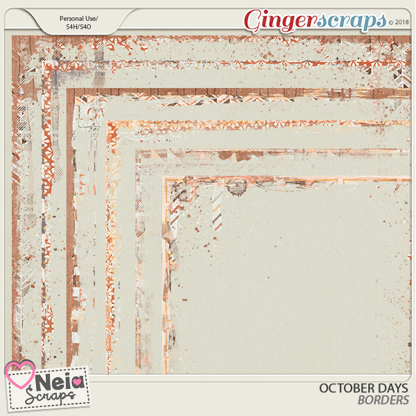 October Days - Borders - By Neia Scraps