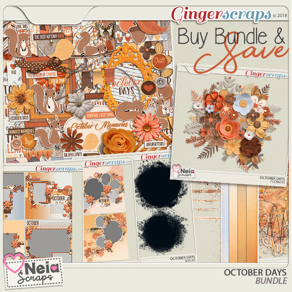 October Days - Bundle - By Neia Scraps