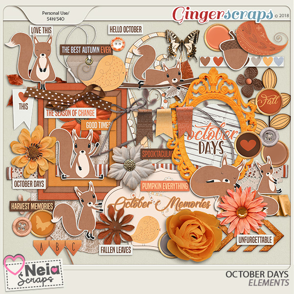 October Days - Elements - By Neia Scraps