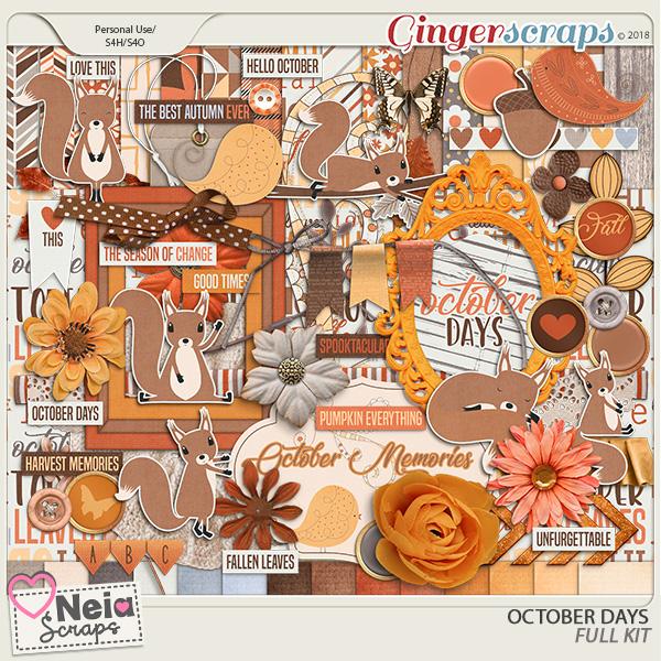 October Days - Full Kit - By Neia Scraps