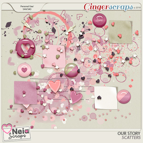 Our Story - Scatters - by Neia Scraps
