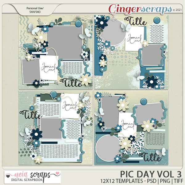 Pic Day - Templates VOL-3 - by Neia Scraps