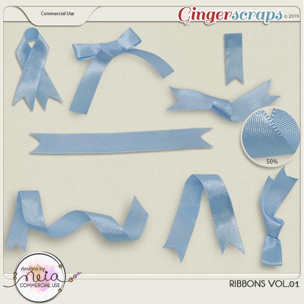 Ribbons - VOL 01 - by Neia Scraps - CU