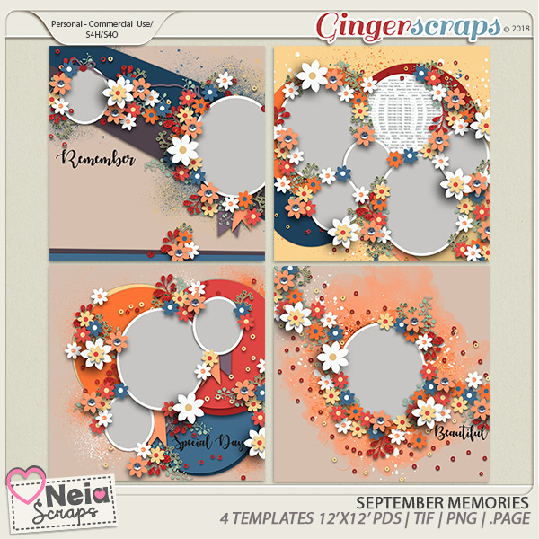 September Memories - Templates - By Neia Scraps