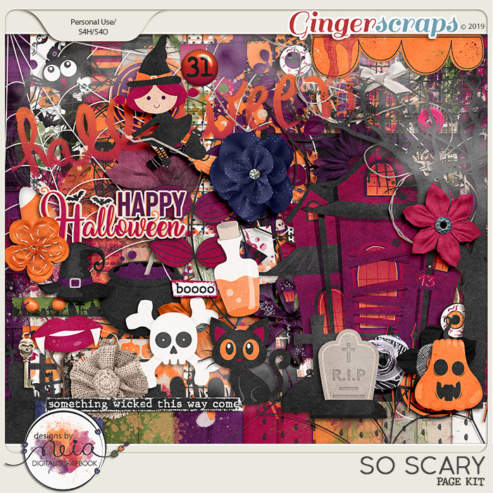 So Scary - Page Kit - by Neia Scraps