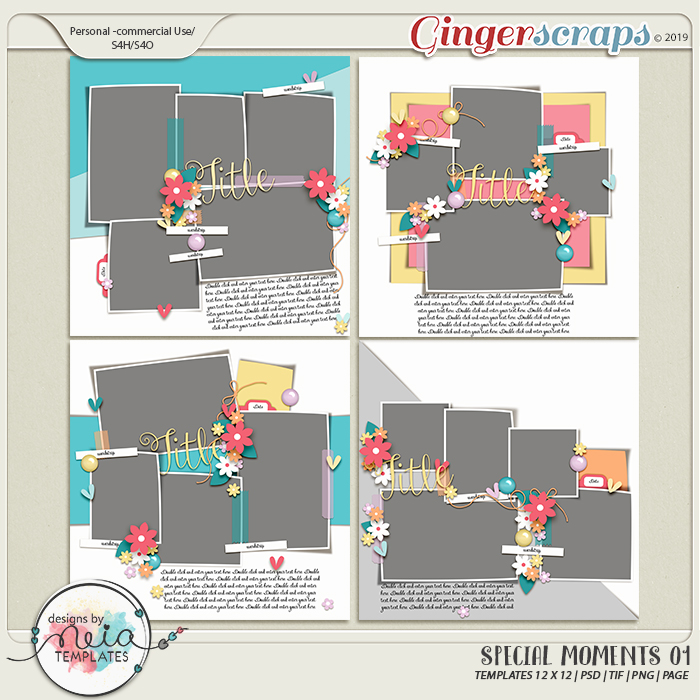 Special Moments- VOL.01 - Templates - by Neia Scraps