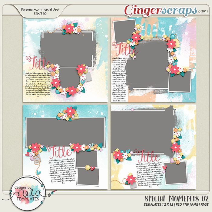 Special Moments- VOL.02 - Templates - by Neia Scraps