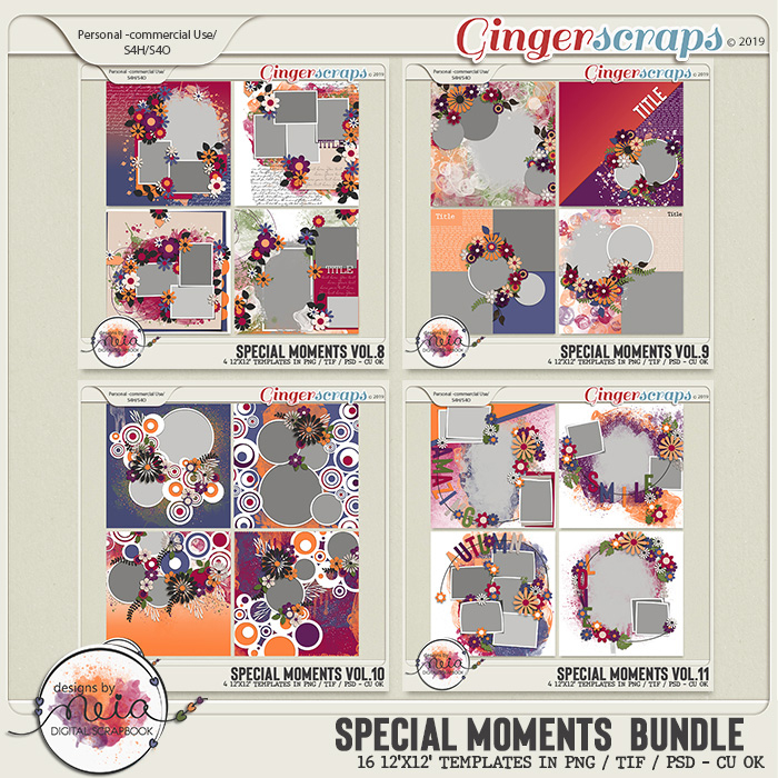 Special Moments Bundle - Templates - by Neia Scraps