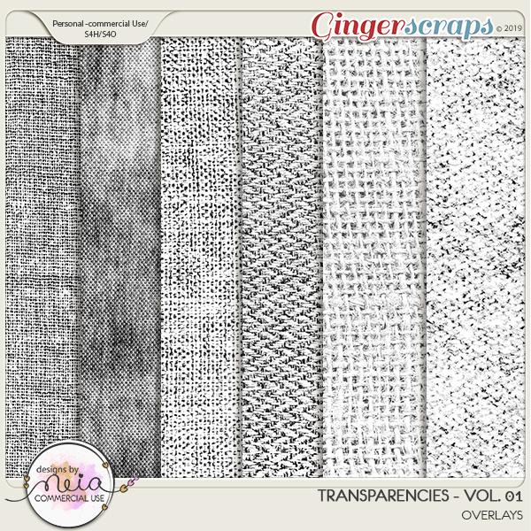 Transparencies - VOL 01 - by Neia Scraps - CU