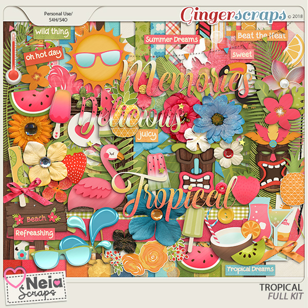 Tropical - Full Kit - By Neia Scraps