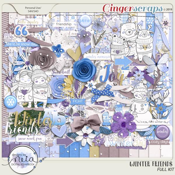 Winter Friends - Full Kit- by Neia Scraps