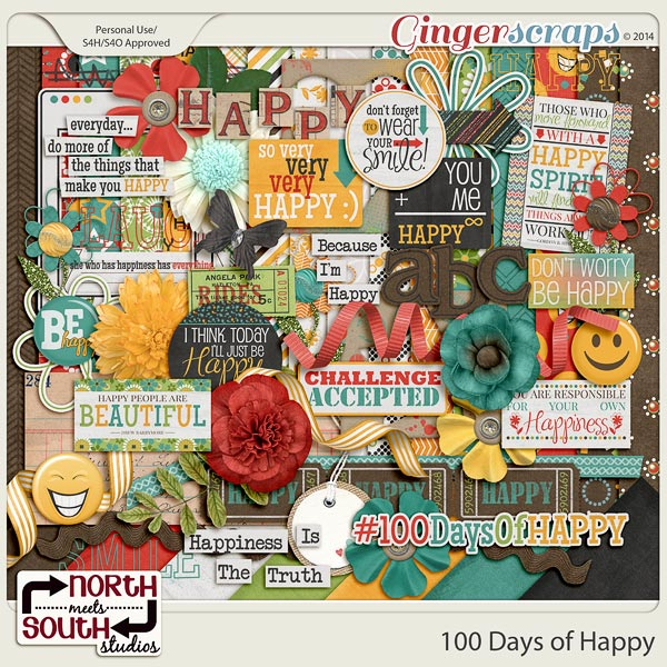 100 Days of Happy Collab Kit by North Meets South Studios