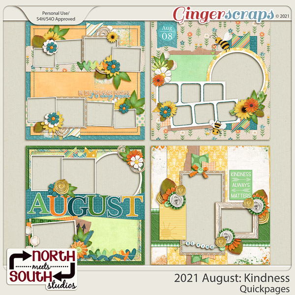 2021 August: Kindness Quickpages by North Meets South Studios