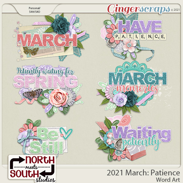 2021 March: Patience Wordart by North Meets South Studios