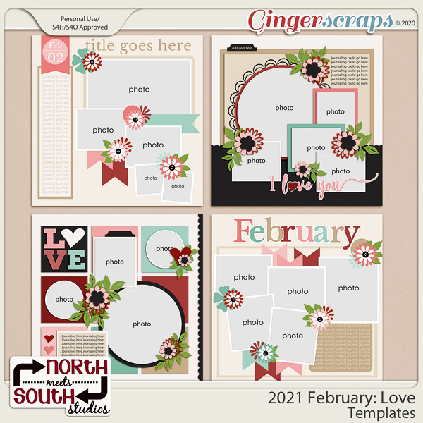 2021 February: Love Templates by North Meets South Studios