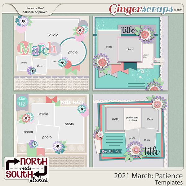 2021 March: Patience Templates by North Meets South Studios