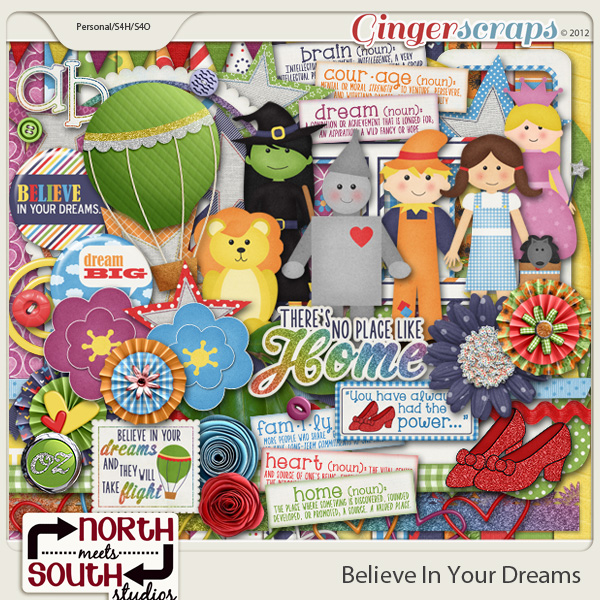 Believe in Your Dreams Collab Kit by North Meets South Studios