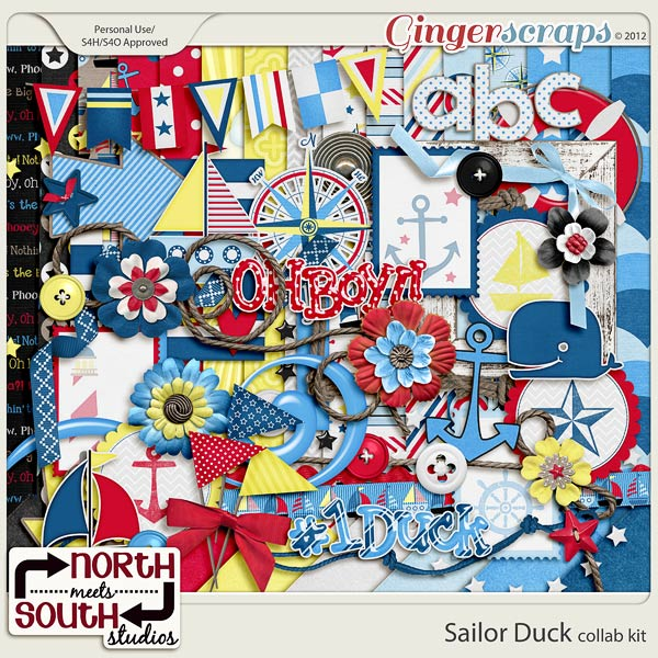 Sailor Duck Collab Kit by North Meets South Studios