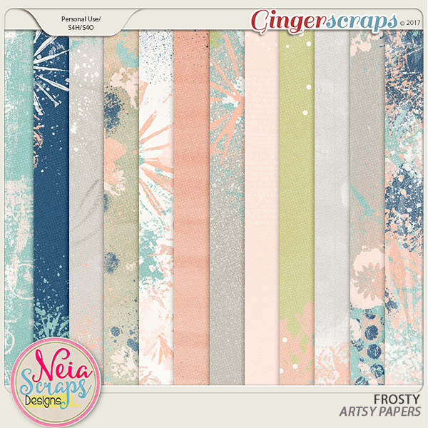 Frosty - Artsy Papers - By Neia Scraps