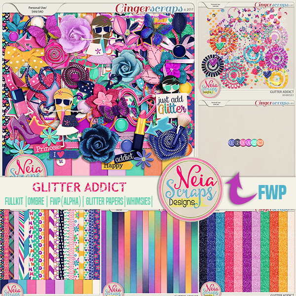 Glitter Addict - collection - By Neia Scraps