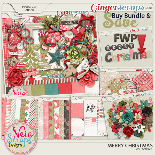 Merry Christmas - Collection + *FWP*- by Neia Scraps