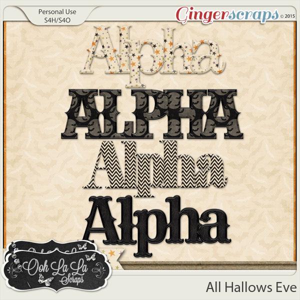 All Hallows Eve Alphabets