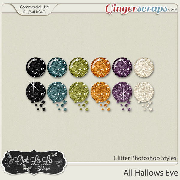 All Hallows Eve Glitter CU Photoshop Styles