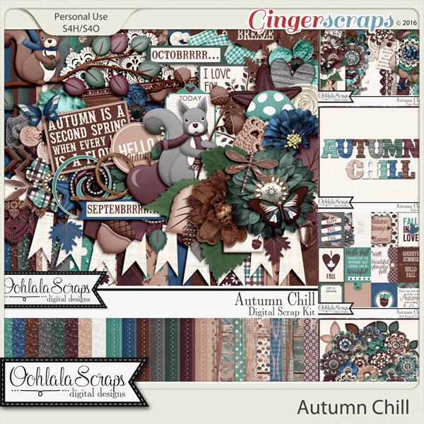Autumn Chill Digital Scrapbooking Bundle
