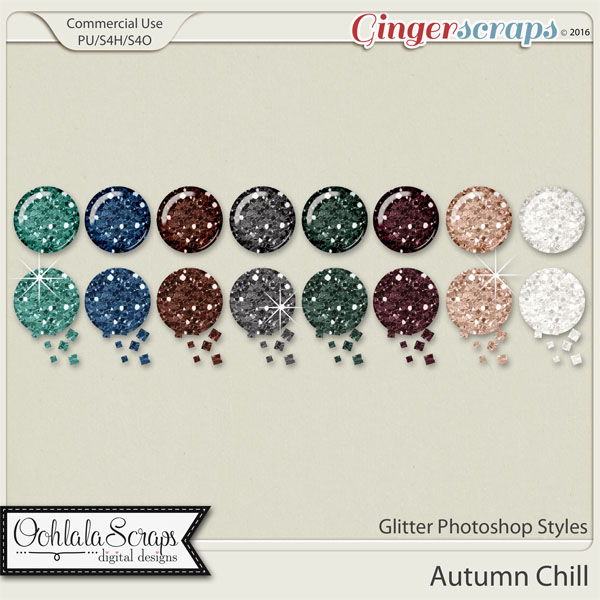 Autumn Chill Glitter CU Photoshop Styles