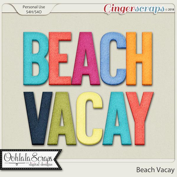 Beach Vacay Alphabets