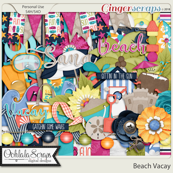Beach Vacay Digital Scrapbook Kit