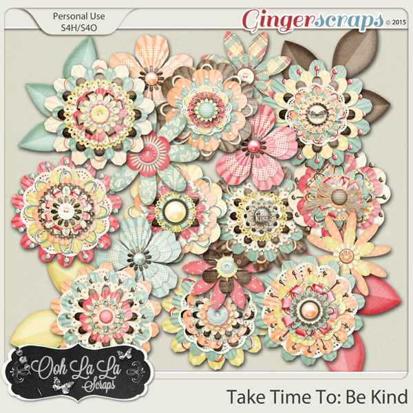 Take Time To Be Kind Layered Flowers