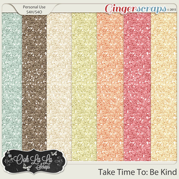 Take Time To Be Kind Glitter Sheets