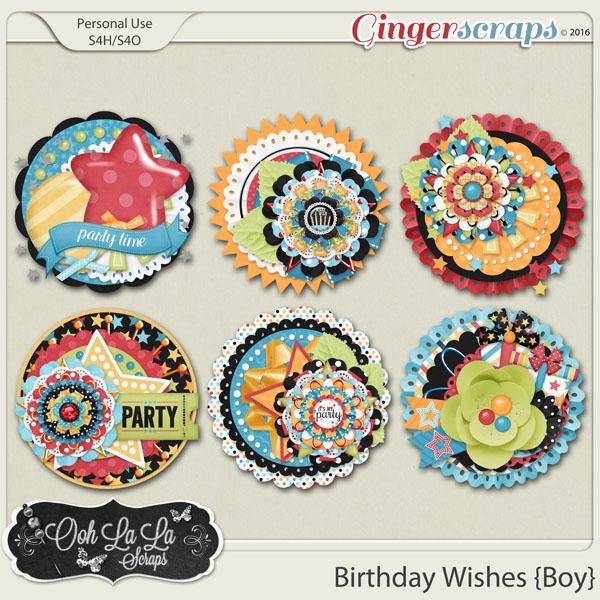 Birthday Wishes Boy Cluster Seals