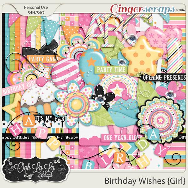 Birthday Wishes Girl Add On Mini Kit