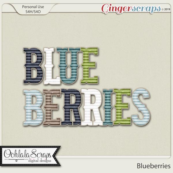 Blueberries Alphabets