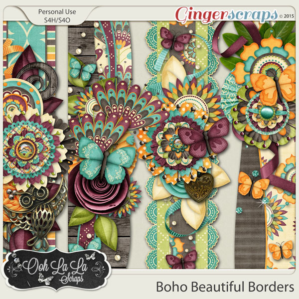 Boho Beautiful Page Borders
