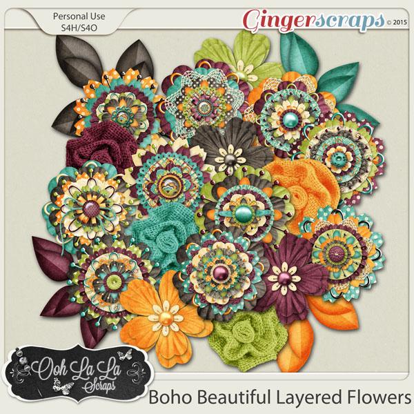 Boho Beautiful Layered Flowers