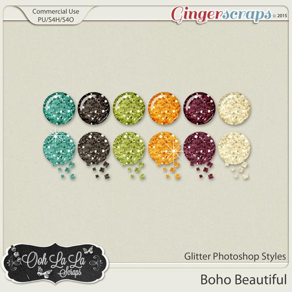 Boho Beautiful CU Glitter Photoshop Styles