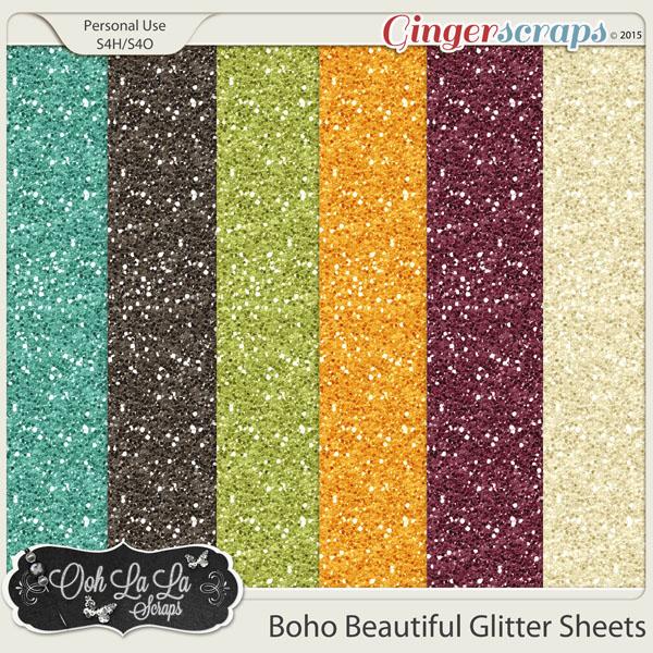Boho Beautiful Glitter Sheets