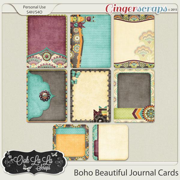 Boho Beautiful Journal and Pocket Scrapbooking Cards