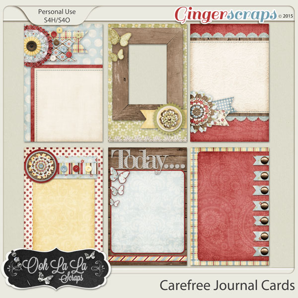 Carefree Journal and Pocket Scrapbooking Cards