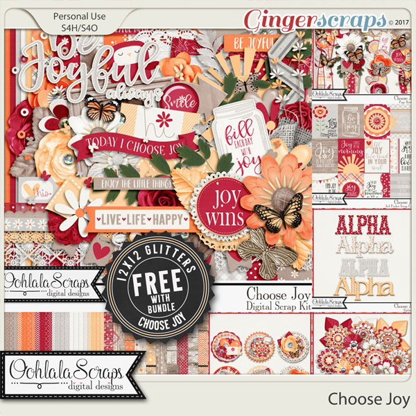 Choose Joy Digital Scrapbook Bundle