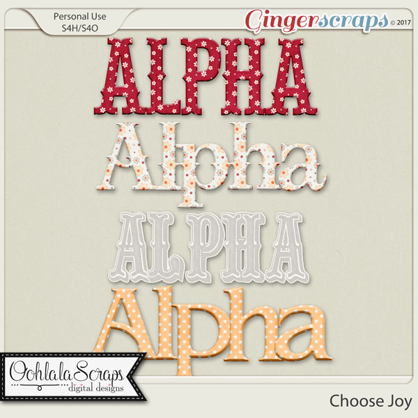 Choose Joy Alphabets