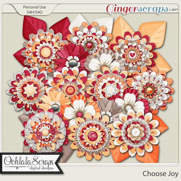 Choose Joy Layered Flowers