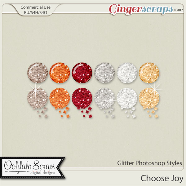 Choose Joy CU Glitter Photoshop Styles