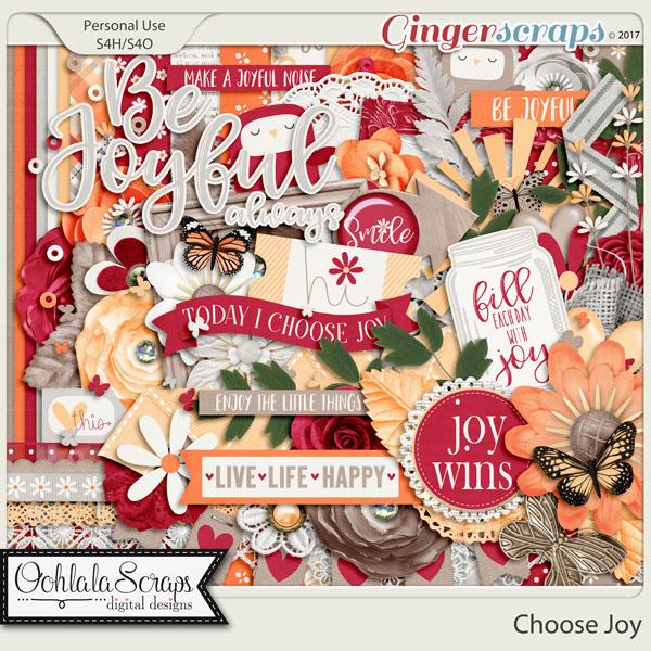 Choose Joy Digital Scrapbook Kit