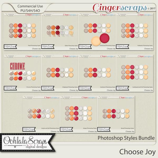 Choose Joy CU Photoshop Styles Bundle