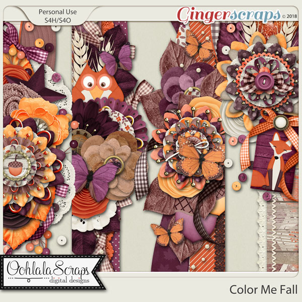 Color Me Fall Page Borders