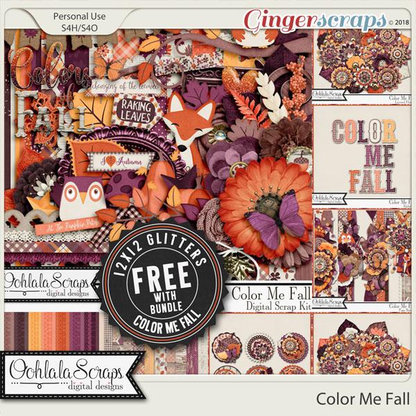 Color Me Fall Digital Scrapbook Bundle